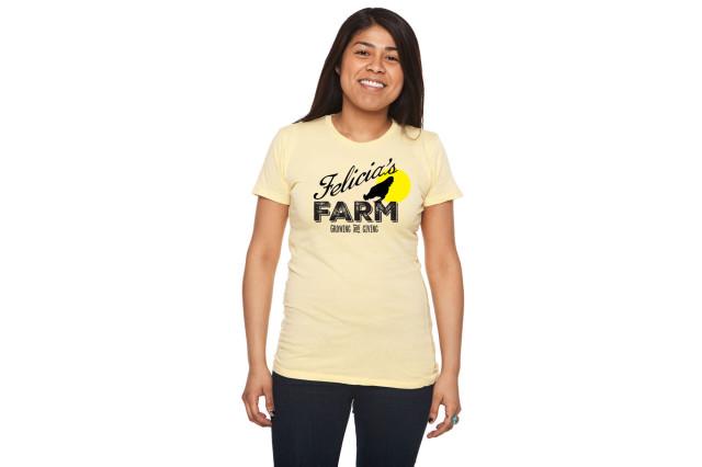 Felicia's Farm natural tee $20