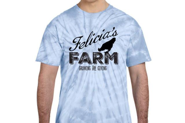 Felicia's Farm Tie-dye tee $25